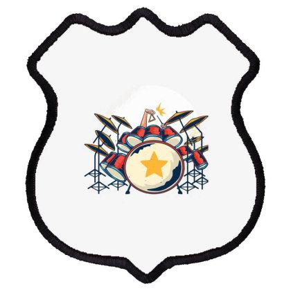 Drums Shield Patch Designed By Dirjaart