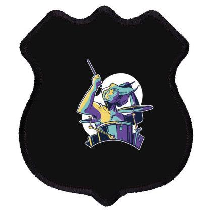 Drummer Shield Patch Designed By Dirjaart