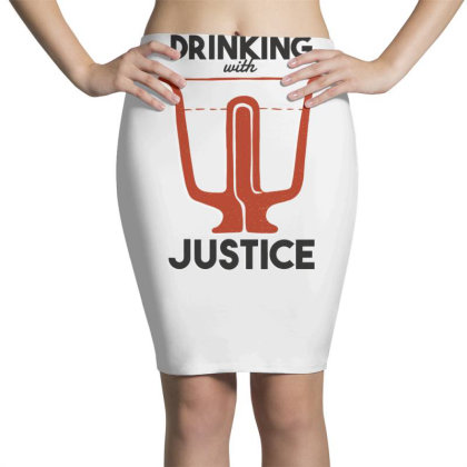 Drinking With Justice Pencil Skirts Designed By Dirjaart