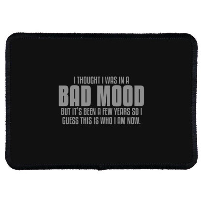 Bad  Mood Rectangle Patch Designed By H3lm1