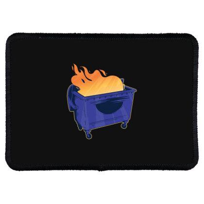 Dumpster Fire Rectangle Patch Designed By Dirjaart