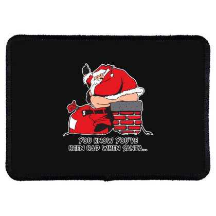 Bad  Santa Rectangle Patch Designed By H3lm1