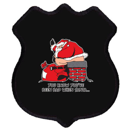 Bad  Santa Shield Patch Designed By H3lm1