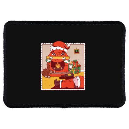 Drunk Santa Christmas Rectangle Patch Designed By Dirjaart