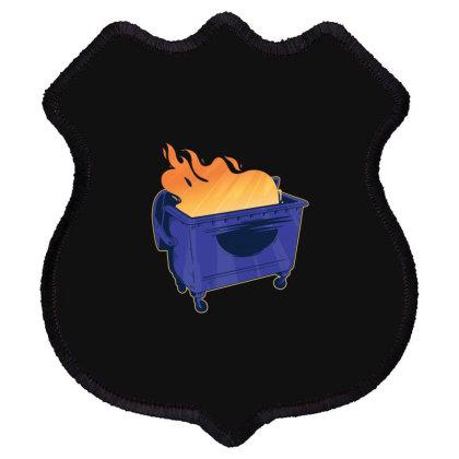 Dumpster Fire Shield Patch Designed By Dirjaart