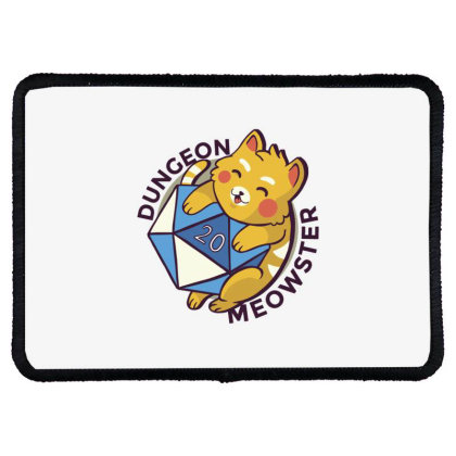 Dungeon Meowster Rectangle Patch Designed By Dirjaart