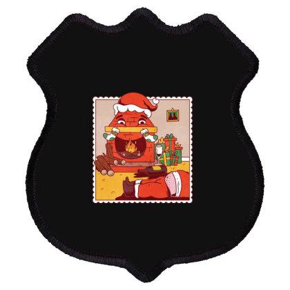 Drunk Santa Christmas Shield Patch Designed By Dirjaart