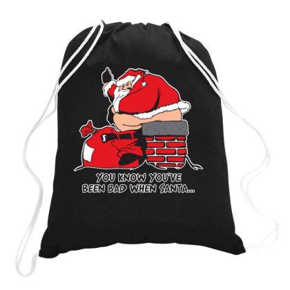 Bad  Santa Drawstring Bags Designed By H3lm1