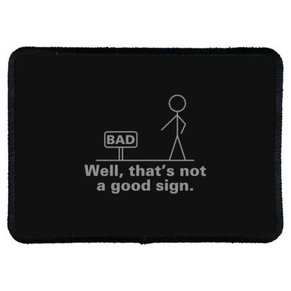 Bad  Sign Rectangle Patch Designed By H3lm1