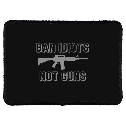 Ban  Idiots Rectangle Patch Designed By H3lm1