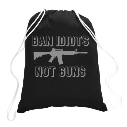 Ban  Idiots Drawstring Bags Designed By H3lm1
