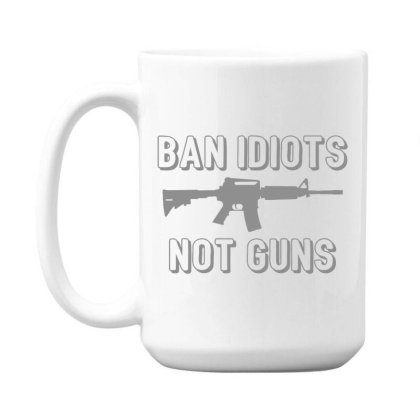 Ban  Idiots 15 Oz Coffe Mug Designed By H3lm1