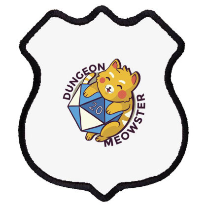 Dungeon Meowster Shield Patch Designed By Dirjaart