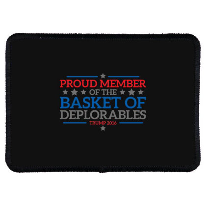 Basket  Trump Rectangle Patch Designed By H3lm1