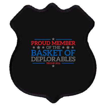 Basket  Trump Shield Patch Designed By H3lm1