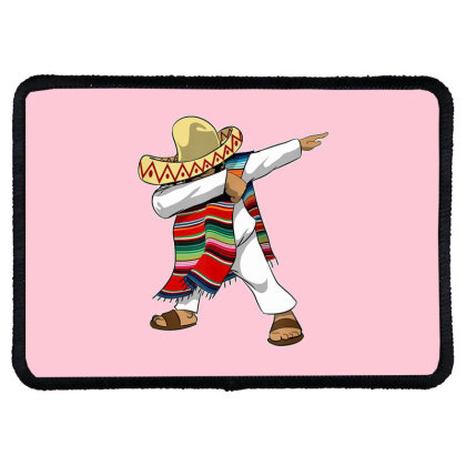 Mexican Poncho Dabbing Rectangle Patch Designed By Mrt90