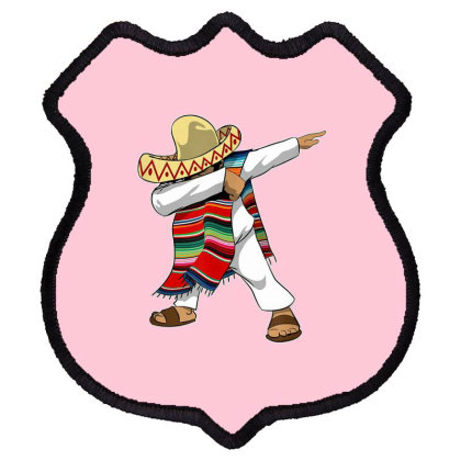 Mexican Poncho Dabbing Shield Patch Designed By Mrt90