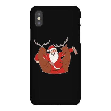 Drunk Santa Iphonex Case Designed By Dirjaart