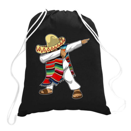 Mexican Poncho Dabbing Drawstring Bags Designed By Mrt90