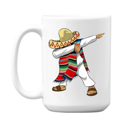 Mexican Poncho Dabbing 15 Oz Coffe Mug Designed By Mrt90