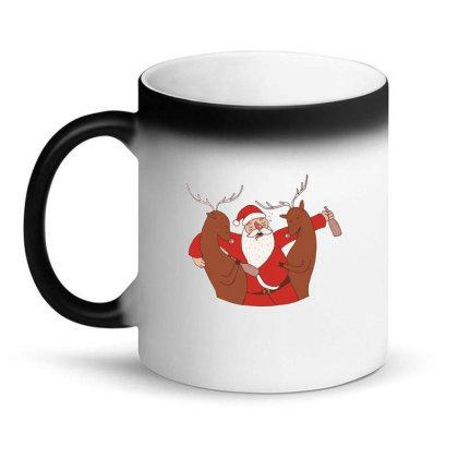 Drunk Santa Magic Mug Designed By Dirjaart