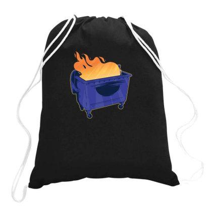 Dumpster Fire Drawstring Bags Designed By Dirjaart