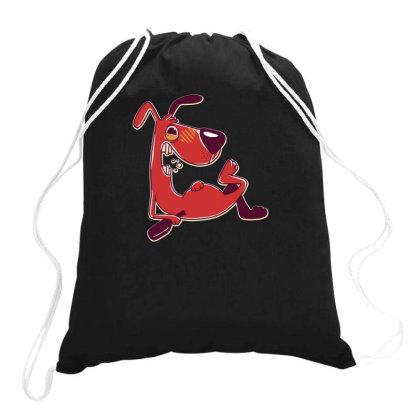 Drunk Dog Drawstring Bags Designed By Dirjaart