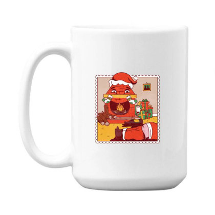 Drunk Santa Christmas 15 Oz Coffe Mug Designed By Dirjaart