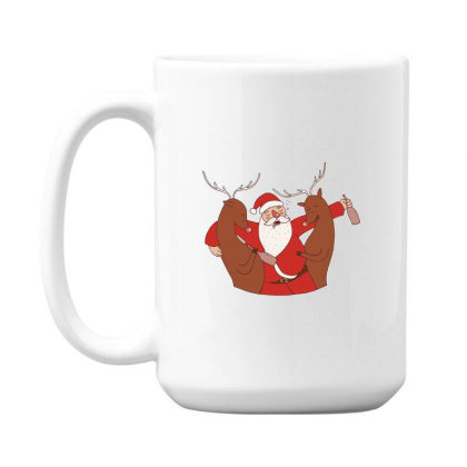 Drunk Santa 15 Oz Coffe Mug Designed By Dirjaart
