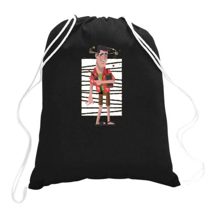 Drunk Man Drawstring Bags Designed By Dirjaart