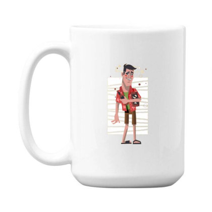 Drunk Man 15 Oz Coffe Mug Designed By Dirjaart