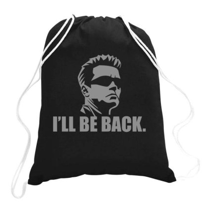 Be  Back Drawstring Bags Designed By H3lm1
