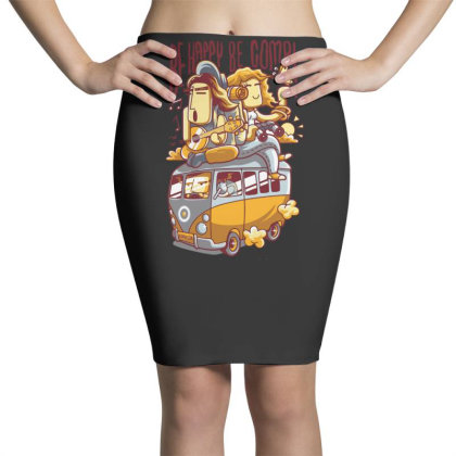 Be Happy Be Combi Pencil Skirts Designed By H3lm1