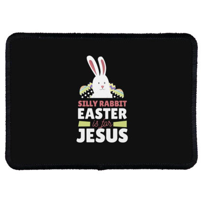 Easter Is For Jesus Rectangle Patch Designed By Dirjaart