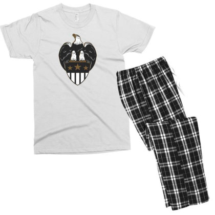 Eagle Shield Men's T-shirt Pajama Set Designed By Dirjaart