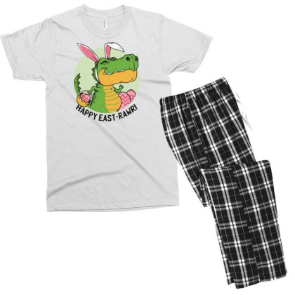 Easter Dinosaur Men's T-shirt Pajama Set Designed By Dirjaart