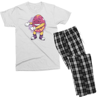 Easter Egg Floss Men's T-shirt Pajama Set Designed By Dirjaart