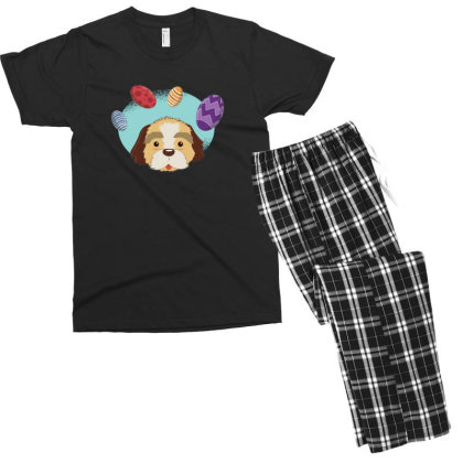 Easter Dog Men's T-shirt Pajama Set Designed By Dirjaart