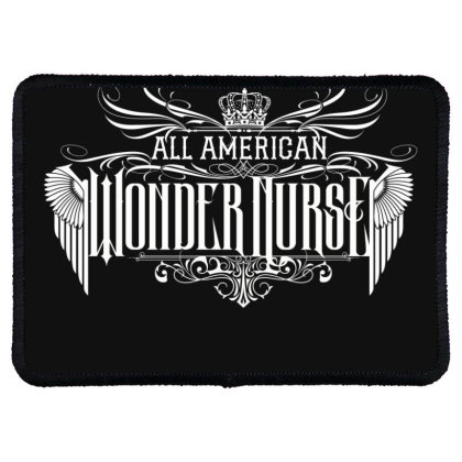 All American Wonder Nurse Rectangle Patch Designed By Tiococacola
