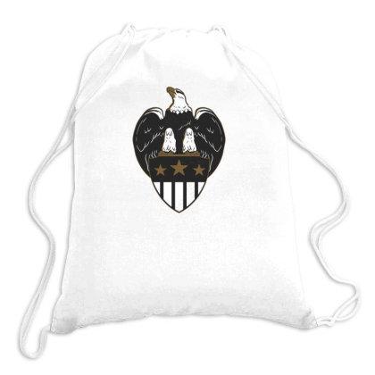 Eagle Shield Drawstring Bags Designed By Dirjaart