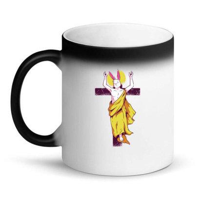 Easter Bunny Resurrection Magic Mug Designed By Dirjaart
