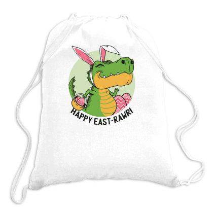 Easter Dinosaur Drawstring Bags Designed By Dirjaart