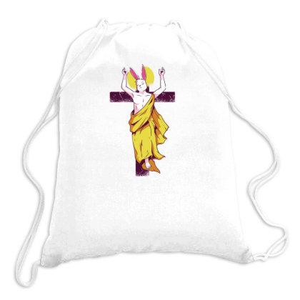 Easter Bunny Resurrection Drawstring Bags Designed By Dirjaart