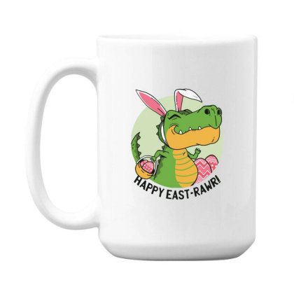 Easter Dinosaur 15 Oz Coffe Mug Designed By Dirjaart