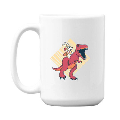 Easter Dinosaur (2) 15 Oz Coffe Mug Designed By Dirjaart