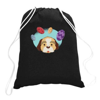 Easter Dog Drawstring Bags Designed By Dirjaart