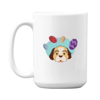 Easter Dog 15 Oz Coffe Mug Designed By Dirjaart