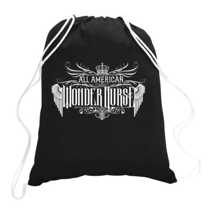 All American Wonder Nurse Drawstring Bags Designed By Tiococacola