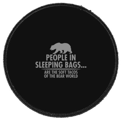 Bear  World Round Patch Designed By H3lm1