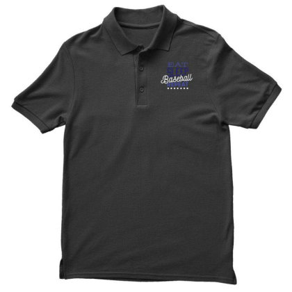 Eat, Sleep, Baseball, Repeat Men's Polo Shirt Designed By Dirjaart